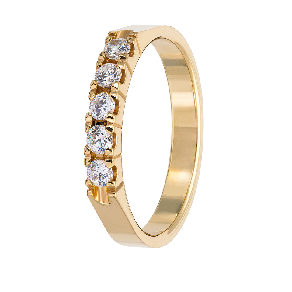 Diamantring i 18K guld, 68