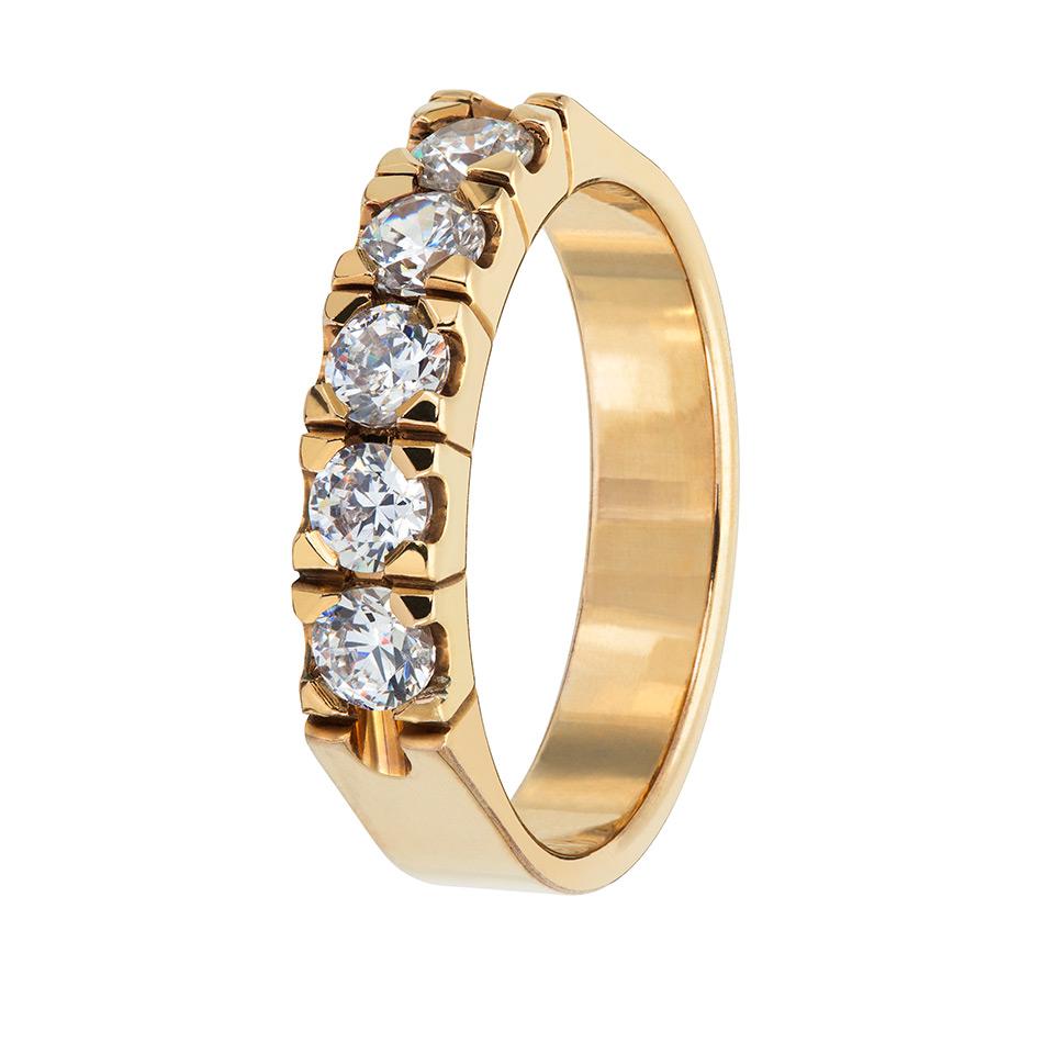 Diamantring i 18K guld, 70