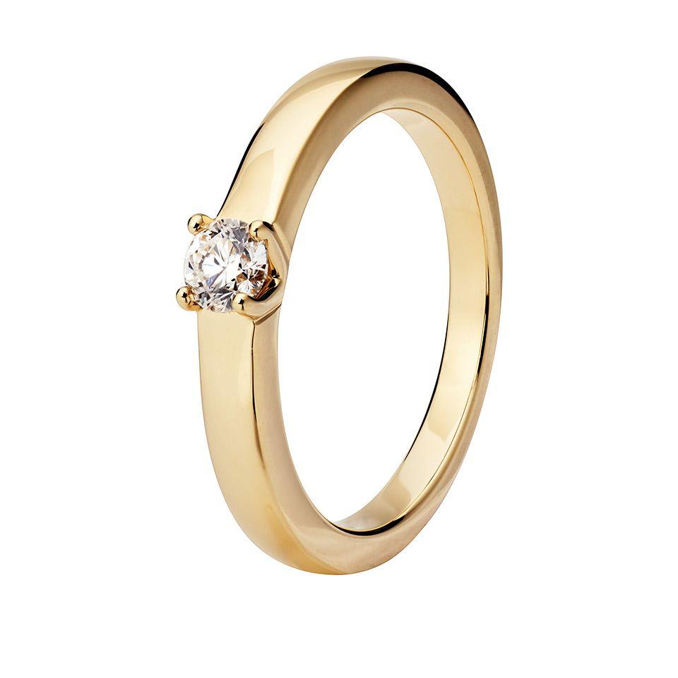 Diamantring i 18K guld, 20.0