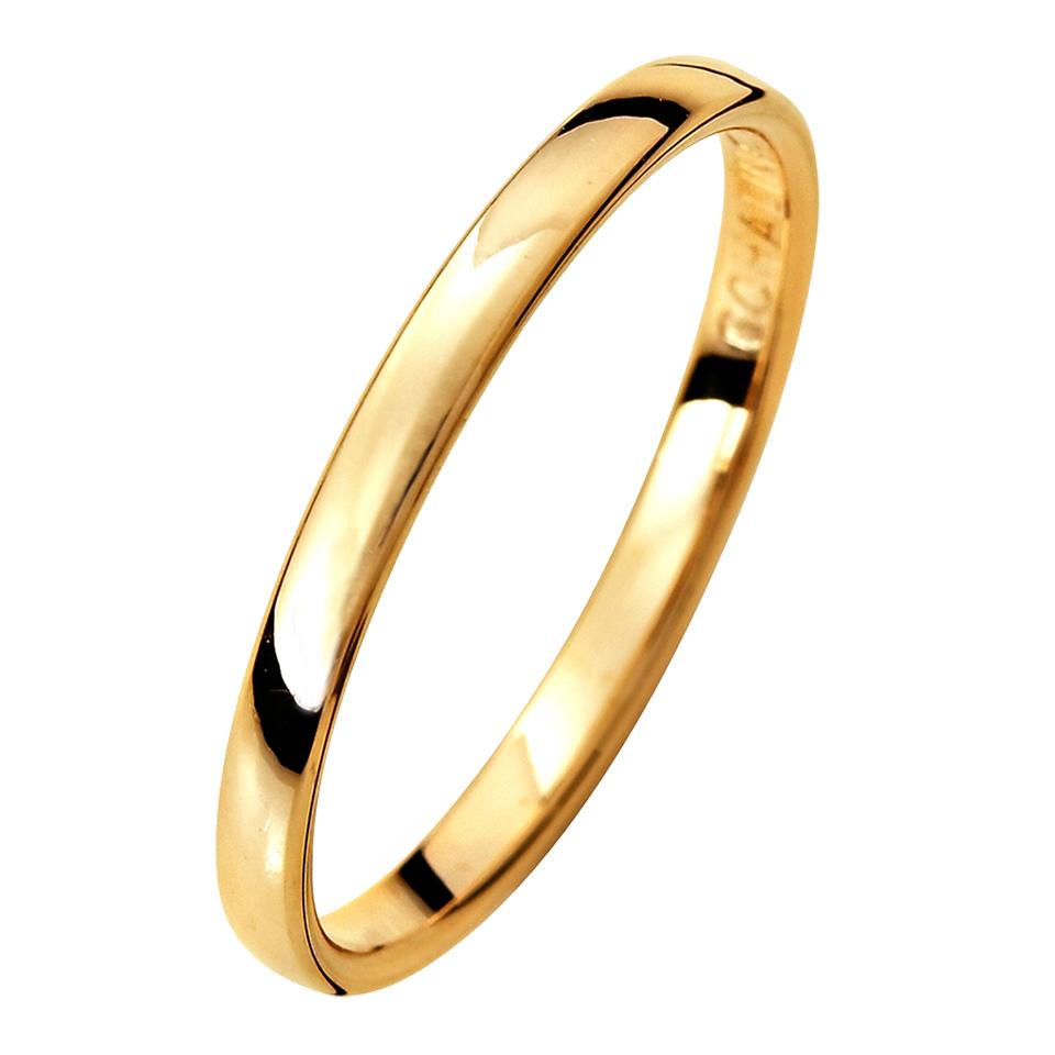 Förlovningsring i 9K guld, 44