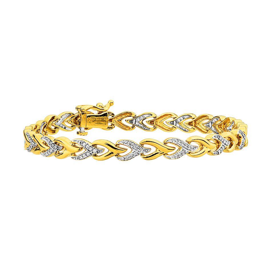 Diamantarmband i guld