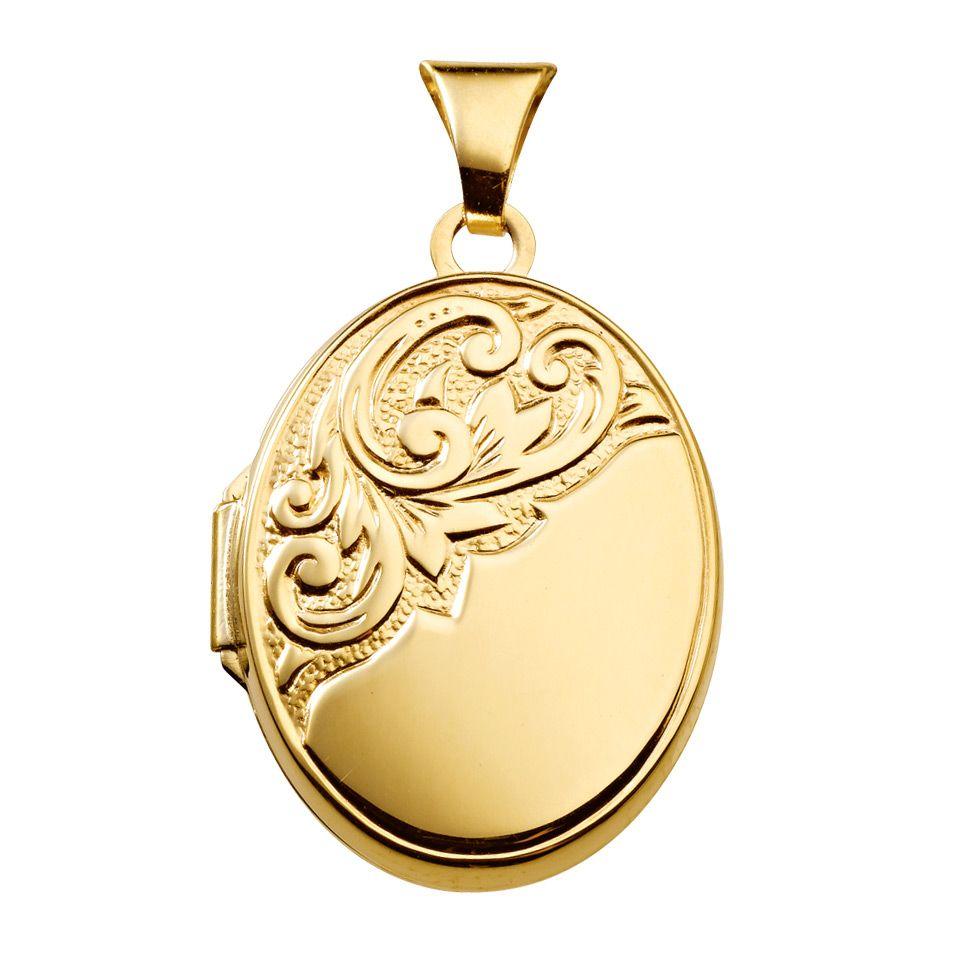 Medaljong i 9K guld