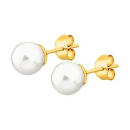 örhängen guld pärla