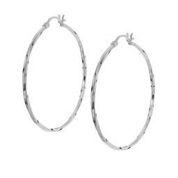 tunna silverringar örhängen