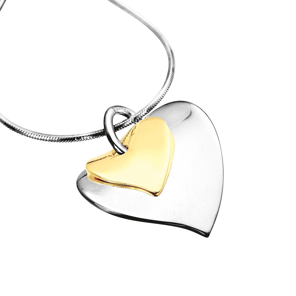 Halsband i äkta silver och 9K guld