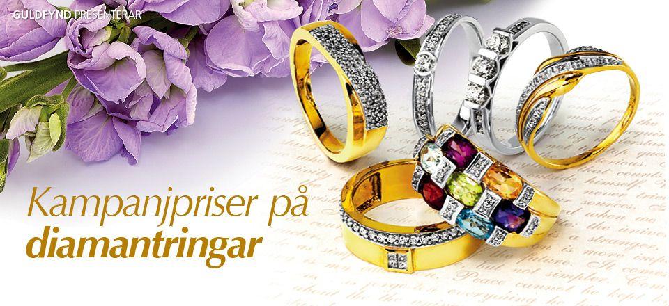 Kampanjpriser på diamantringar!